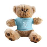 Plush Big Paw 8 1/2 inch Brown Bear w/Light Blue Shirt-Hostos H w/Alligator