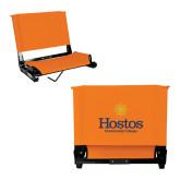 Stadium Chair Orange-Hostos Community College w/Sun