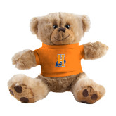 Plush Big Paw 8 1/2 inch Brown Bear w/Orange Shirt-Hostos H w/Alligator