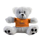 Plush Big Paw 8 1/2 inch White Bear w/Orange Shirt-Hostos Community College w/Sun