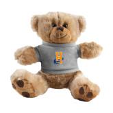 Plush Big Paw 8 1/2 inch Brown Bear w/Grey Shirt-Hostos H w/Alligator