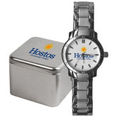 Community College Mens Stainless Steel Fashion Watch-Hostos Community College w/Sun Stacked