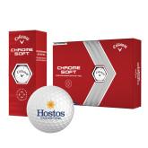 Callaway Chrome Soft Golf Balls 12/pkg-Hostos Community College w/Sun Stacked