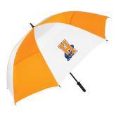 62 Inch Orange/White Umbrella-Hostos H w/Alligator