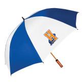 62 Inch Royal/White Umbrella-Hostos H w/Alligator