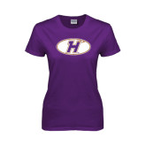 Ladies Purple T Shirt-H Mark