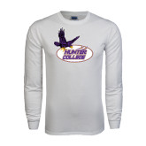 White Long Sleeve T Shirt-Hunter College