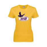 Ladies Gold T Shirt-Hunter College