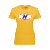 Ladies Gold T Shirt-H Mark