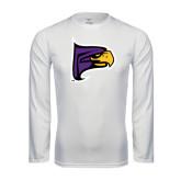 Performance White Longsleeve Shirt-Hawk Head
