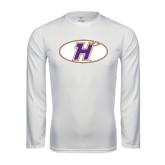 Performance White Longsleeve Shirt-H Mark
