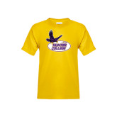 Youth Gold T Shirt-Hunter College