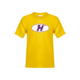 Youth Gold T Shirt-H Mark