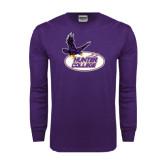 Purple Long Sleeve T Shirt-Hunter College