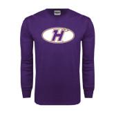 Purple Long Sleeve T Shirt-H Mark