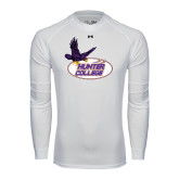 Under Armour White Long Sleeve Tech Tee-Hunter College