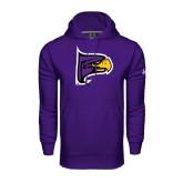 Under Armour Purple Performance Sweats Team Hoodie-Hawk Head