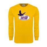 Gold Long Sleeve T Shirt-Hunter College