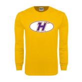 Gold Long Sleeve T Shirt-H Mark