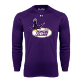 Under Armour Purple Long Sleeve Tech Tee-Hunter College