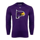 Under Armour Purple Long Sleeve Tech Tee-Hawk Head