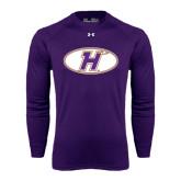 Under Armour Purple Long Sleeve Tech Tee-H Mark