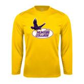 Performance Gold Longsleeve Shirt-Hunter College
