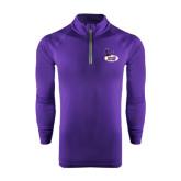 Under Armour Purple Tech 1/4 Zip Performance Shirt-Hunter College