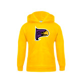 Youth Gold Fleece Hoodie-Hawk Head