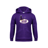 Youth Purple Fleece Hoodie-Hunter College