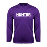 Performance Purple Longsleeve Shirt-Official Logo