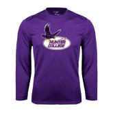 Performance Purple Longsleeve Shirt-Hunter College