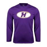 Performance Purple Longsleeve Shirt-H Mark