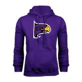 Purple Fleece Hoodie-Hawk Head