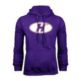 Purple Fleece Hoodie-H Mark
