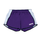 Ladies Purple/White Team Short-Official Logo