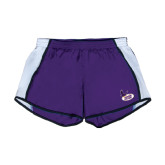 Ladies Purple/White Team Short-Hunter College