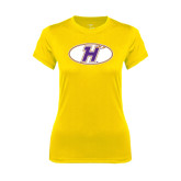 Ladies Syntrel Performance Gold Tee-H Mark