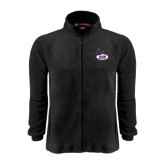 Fleece Full Zip Black Jacket-Hunter College