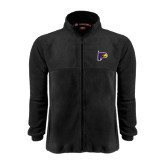 Fleece Full Zip Black Jacket-Hawk Head