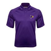 Purple Textured Saddle Shoulder Polo-Hawk Head