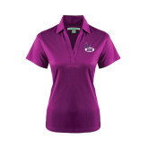 Ladies Purple Performance Fine Jacquard Polo-Hunter College