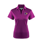 Ladies Purple Performance Fine Jacquard Polo-Hawk Head