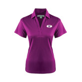 Ladies Purple Performance Fine Jacquard Polo-H Mark