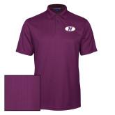 Purple Performance Fine Jacquard Polo-H Mark