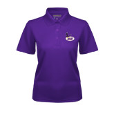 Ladies Purple Dry Mesh Polo-Hunter College