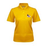 Ladies Gold Dry Mesh Polo-Hunter College