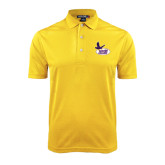 Gold Dry Mesh Polo-Hunter College
