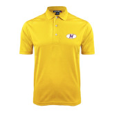 Gold Dry Mesh Polo-H Mark