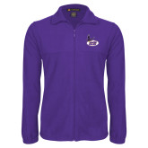 Fleece Full Zip Purple Jacket-Hunter College